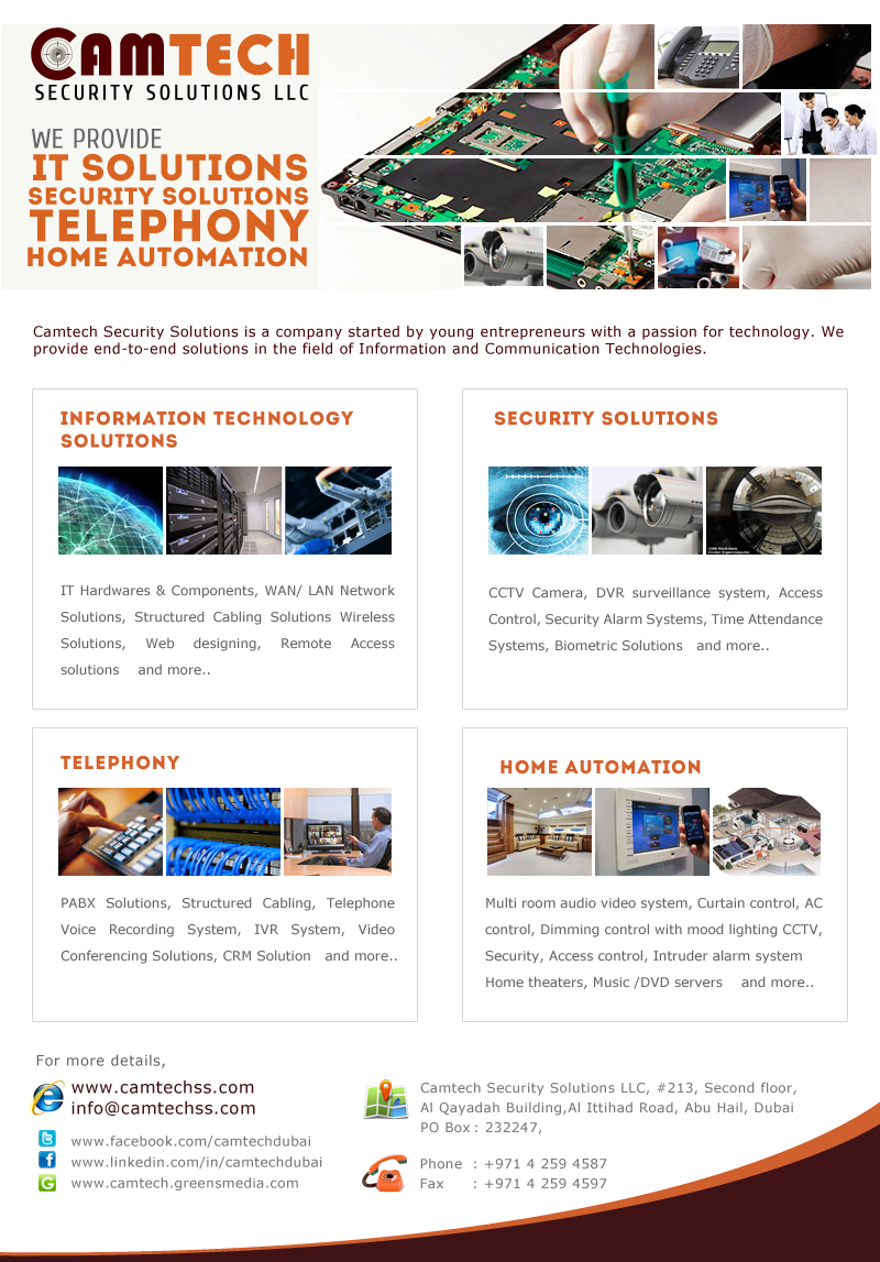 Cctv Dubai Home Automation Biometric Access Control