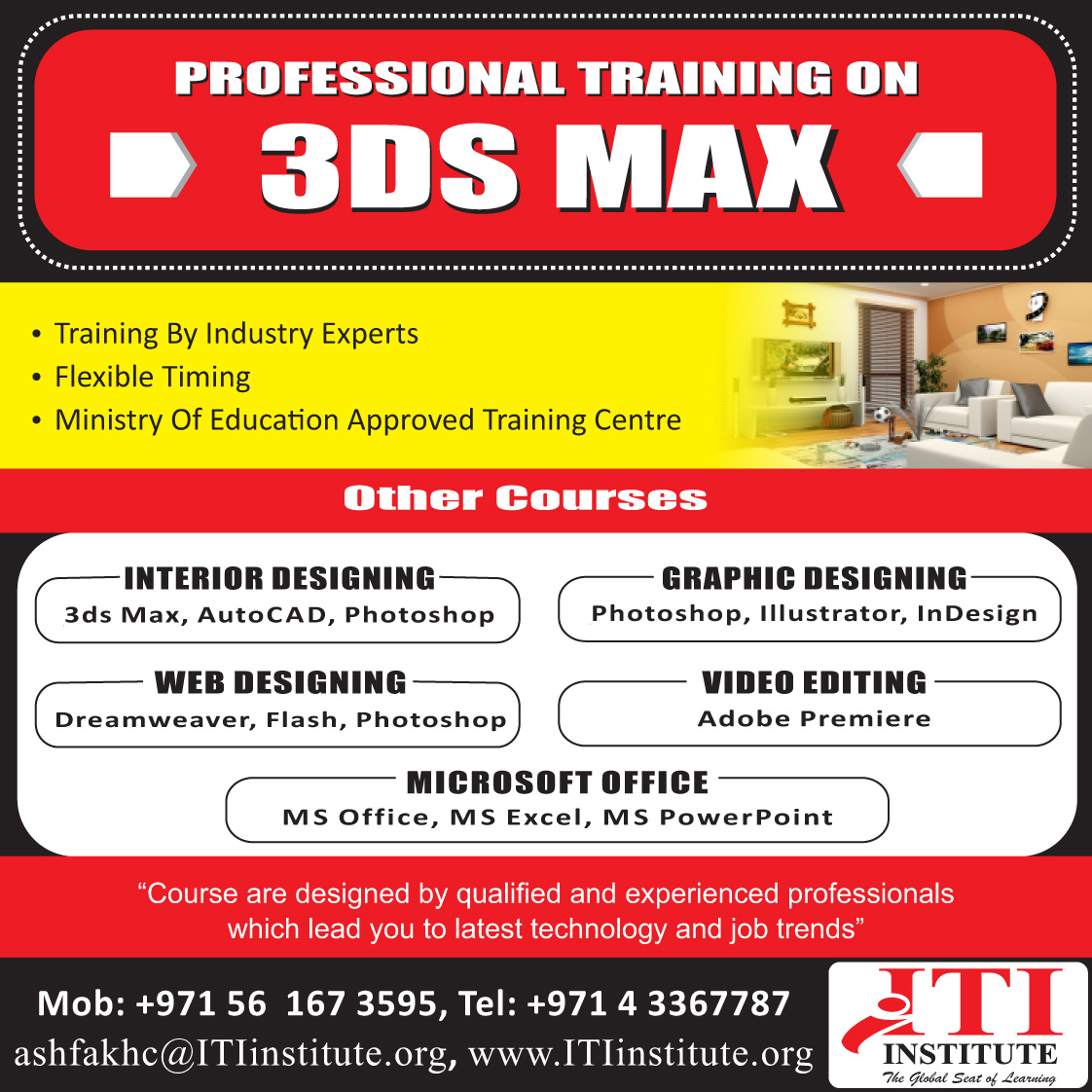 Advanced 3ds max training in dubai